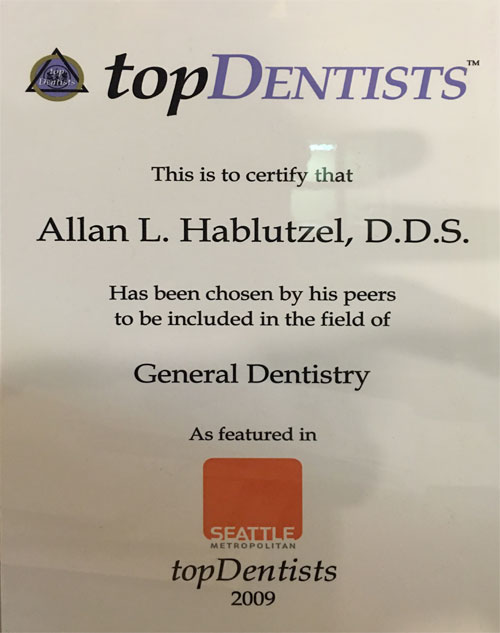 Award for Pacific Ave. Dental in Bremerton, WA